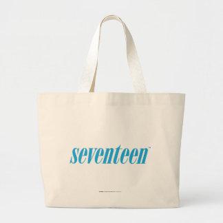 Seventeen Logo-Aqua Large Tote Bag