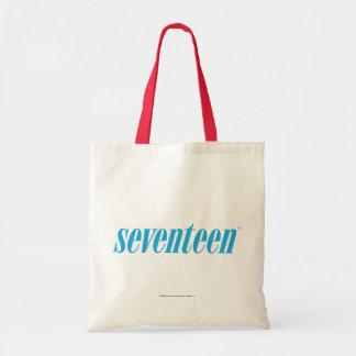 Seventeen Logo-Aqua Tote Bag