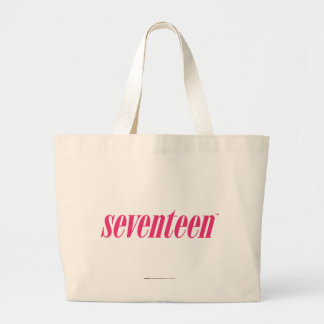 Seventeen Logo-Magenta Large Tote Bag