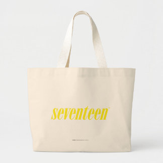 Seventeen Logo-Yellow Large Tote Bag