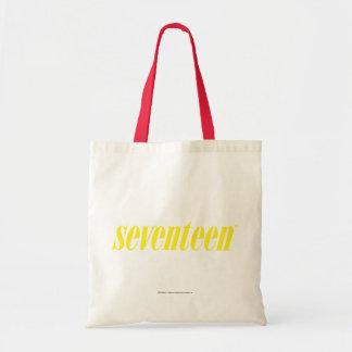 Seventeen Logo-Yellow Tote Bag