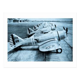 Seversky P-35 Vintage WWII Fighter Planes Postcards