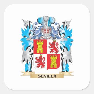 Sevilla Coat of Arms - Family Crest Square Sticker