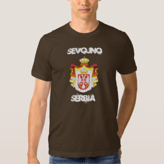 Sevojno, Serbia with coat of arms T-shirts