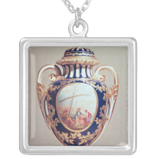 Sevres vase, mid 18th century silver plated necklace