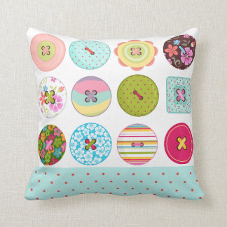Sewing Buttons Cushion