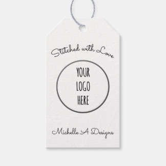Sewing / Embroidery Handmade Shop w/ Logo Gift Tags