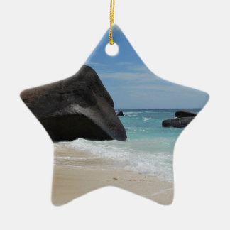 Seychelles beach ceramic star decoration