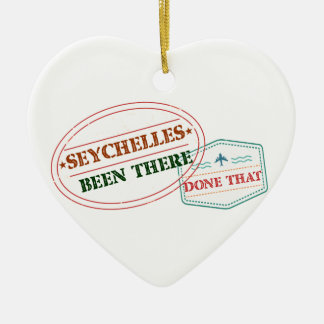 Seychelles Been There Done That Ceramic Heart Decoration