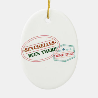 Seychelles Been There Done That Ceramic Oval Decoration
