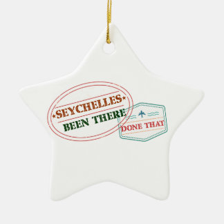 Seychelles Been There Done That Ceramic Star Decoration