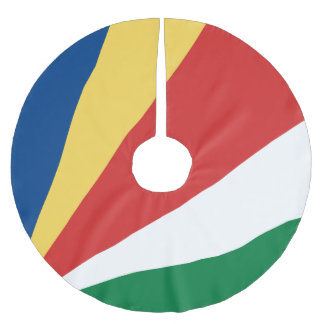 Seychelles Flag Brushed Polyester Tree Skirt
