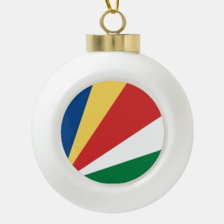 Seychelles Flag Ceramic Ball Decoration
