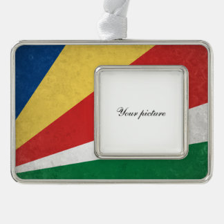 Seychelles Silver Plated Framed Ornament