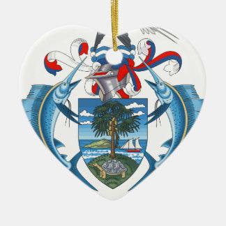SeychellesCoat of Arms Ceramic Heart Decoration