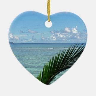 seychells ceramic heart decoration