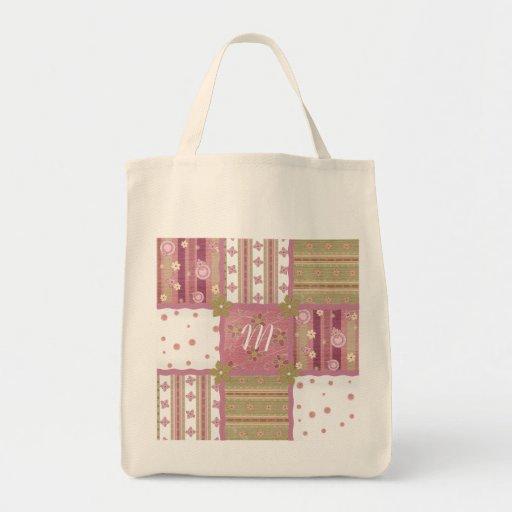 Shabby Chic Monogram Patchwork Tote Bag