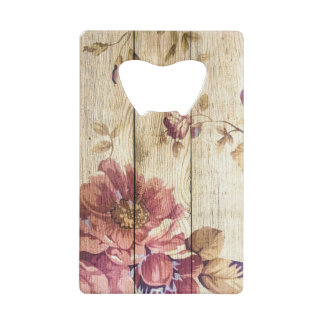 Shabby Chic Romantic Roses on Wooden Wall