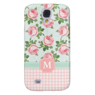Shabby & Chic Vintage Rose Floral Personalised Galaxy S4 Case