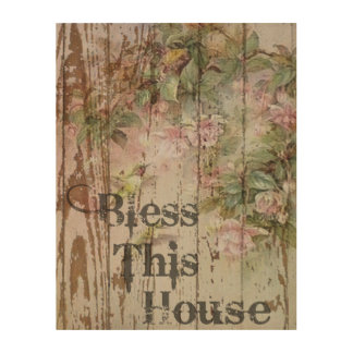 Shabby Chic Wall Art in Wood