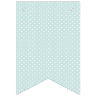 Shabby Chic White Dots on Blue Background. Bunting