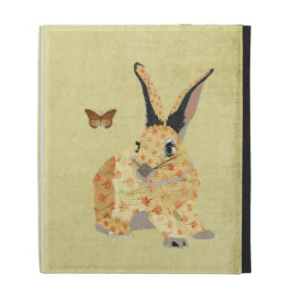 Shabby Floral Bunny Caseable Case iPad Cases