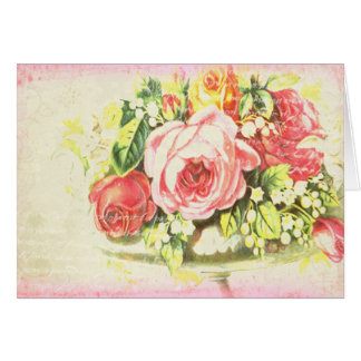 Shabby Rose Collage Art Card