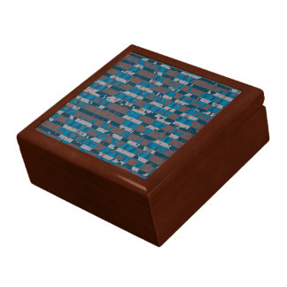 Shabby Stripes in Brown and Blue Gift Box