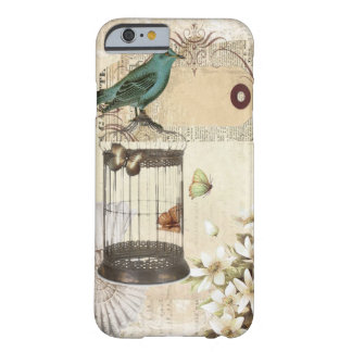 shabbychic Bird cage collage Vintage Paris Barely There iPhone 6 Case