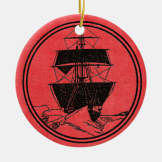 Shackleton's Nimrod Book Cover Christmas Christmas Ornament