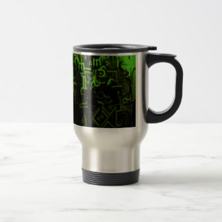 Shades of Green Stainless Steel Travel Mug