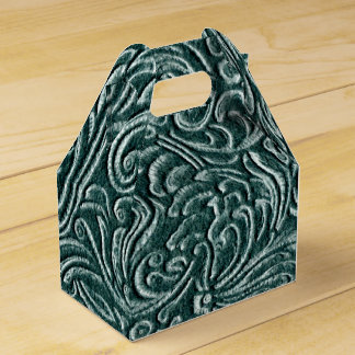 Shades of Green Vintage Tin Tile Look Favour Boxes