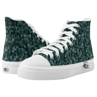 Shades Of North Sea Green High Tops