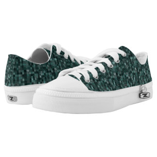 Shades Of North Sea Green Low Tops