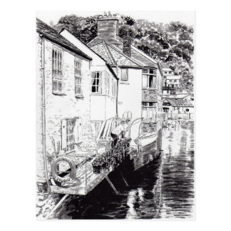 Shades of Polperro Postcard