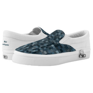 Shades Of Prussian Blue Printed Shoes