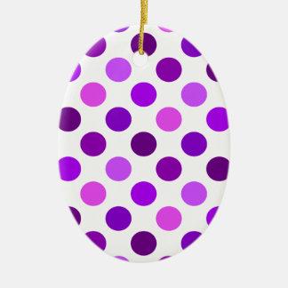 Shades Of Purple Polka Dots Christmas Ornament