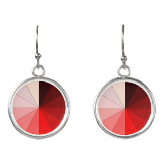shades of red earrings