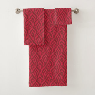Shades of red modern luxe patterned towel