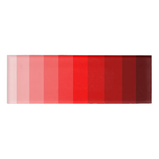 Shades of Red Name Tag