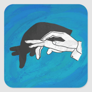 Shadow Anteater On Blue Square Sticker