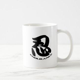 Shadow Warrior Bujinkan Dojo Logo wiith Nin Symbol Basic White Mug