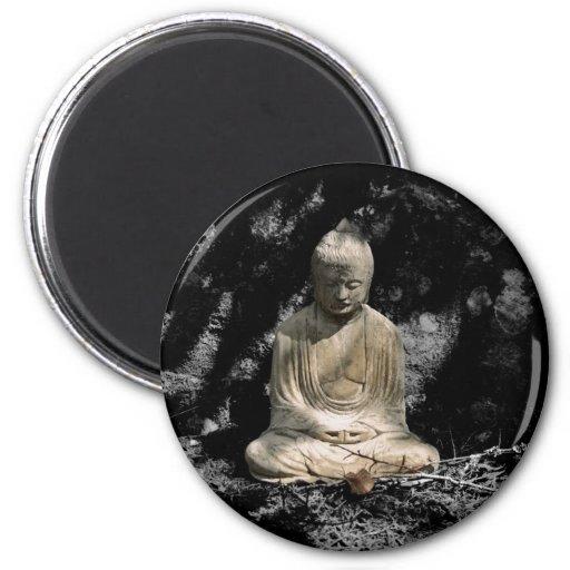 Shadows and Light around Buddha Refrigerator Magnet