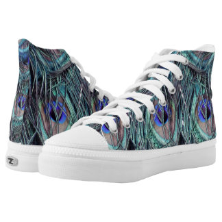 shaggy blue peafowl feathers high tops