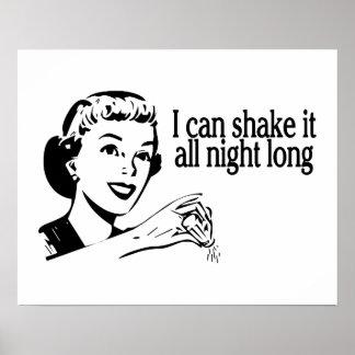 Shake It All Night Long Retro Posters