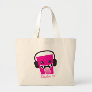 Shake it kawaii DJ Large Tote Bag