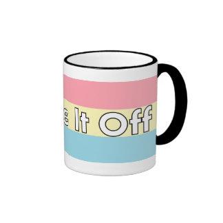 Shake It Off Striped Mug - Pink