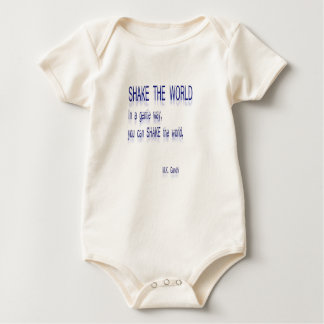 SHAKE the World - In a gentle way Baby Bodysuit