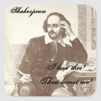 Shakespeare - A Bad Poem Square Sticker