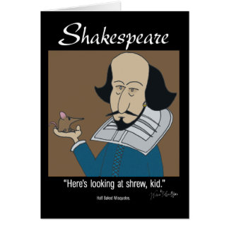 Shakespeare and the Shrew Card